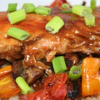 Salmon with Thai Peanut Sauce Recipe