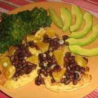 Corn Fritters with Black Bean and Orange Salsa Recipe