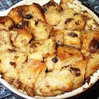 Cinnamon Raisin Bread Pudding (easily converts to a lighter bread pudding dessert) Recipe