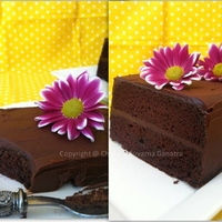 Belgian Dark Chocolate cake with Tia Maria Ganache Recipe