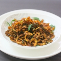 Crispy Fried Bitter Gourd (Pavakkai) With Curry Leaves Recipe