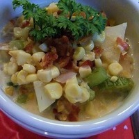 Roasted Corn and Bacon Chowder Recipe