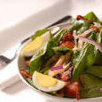 Baby Spinach Salad with Smoked Bacon and Blue Cheese Vinaigrette Recipe