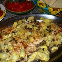 Chicken with Mushrooms and Artichokes Recipe