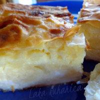 Sour milk and feta cheese phyllo pie Recipe