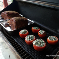Creamed Spinach Stuffed Tomatoes Recipe