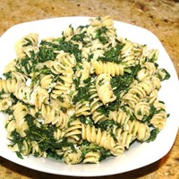 Pasta with Spinach, Ricotta, Ham Recipe