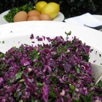 Raw Vegan Red Cabbage Salad Recipe