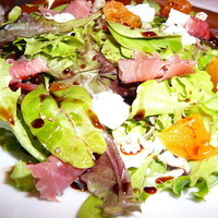 Mesclun Mix with Goat Cheese, Apricots, Prosciutto and Vino Cotto (Vincotto) Recipe