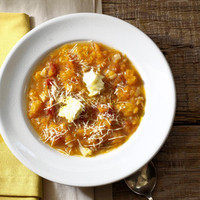 Smashed Squash Soup with Mascarpone Recipe