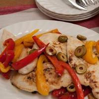 Chicken escalopes in a piquant pepper sauce Recipe