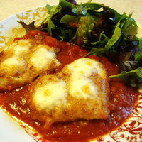 GF Chicken Parmigiana. Recipe