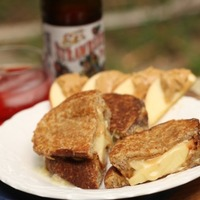 grilled cheese with brie apple honey peanut butter Recipe