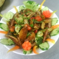 exotic grilled vegetable salad with pears Recipe