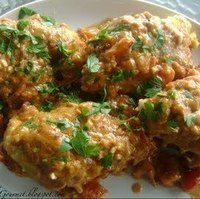 Fried Chicken Breast with Creamy Garlic Peanut Butter & Tomato Sauce!!! Recipe