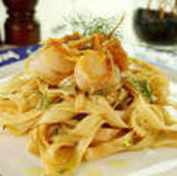 Bobby Lovera's Skillet Carbofredo with Grilled Sea Scallops Recipe