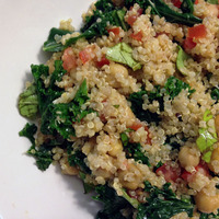 Quinoa, Kale And Chickpea Salad Recipe