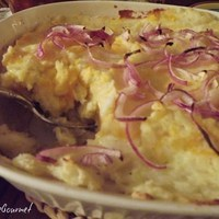Mashed Potatoes with Cheddar Cheese Bake Recipe