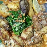 Bobby Lovera's Italian Spinach and Roast Fingerling Potatoes Recipe