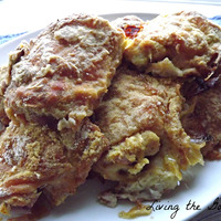Oven Fried Chicken Thighs with Flour and Cornmeal Recipe