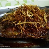 Fried Fish with Crispy Fried Ginger Recipe