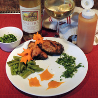 Pecan Wood Smoked Chicken Thighs with Ginger Apricot Glaze Recipe