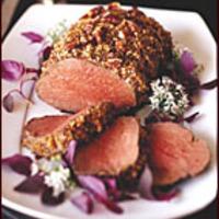 Pecan-Crusted Beef Tenderloin with Juniper Jus Recipe