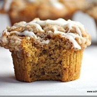 (Tastes Just Like Dunkin' Donuts') Streusel Topped Pumpkin Muffins with Cream Cheese Glaze Recipe
