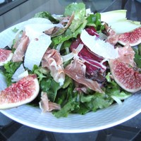 Spring Mix, Arugula, Endive & Fennel with Prosciutto and a Pear Vinaigrette Recipe