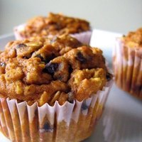 Pumpkin Oatmeal Chocolate Chip Muffins Recipe