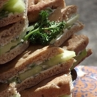 Cucumber and Mint Butter Sandwiches Recipe