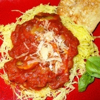 Spaghetti Squash with Fresh Mushroom Sauce Recipe