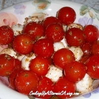 Miss Polly's Fresh Ciliengini & Roma Tomato Caprese Salad Recipe