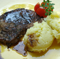 Cutlets with balsamic vinegar, thyme and Parmesan mashed potatoes Recipe
