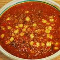 Southwestern Beef & Hominy Soup Recipe