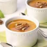 "Baked Pumpkin Custard with Nutmeg Pie ""Crisps"" Recipe"