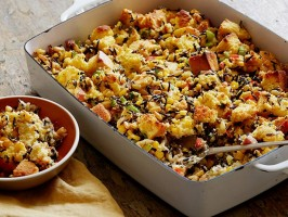 Cornbread and Wild Rice Dressing with Pine Nuts and Parsley