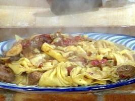 Farfalle with Sausage and Porcini Mushrooms: Corzetti alla Novese
