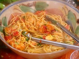 Spaghetti with Monkfish and Hot Peppers