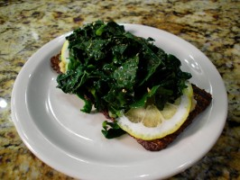 Kale, Lemon and Cilantro Sandwich