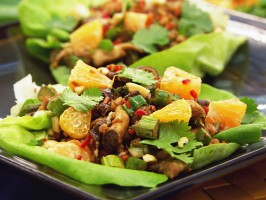 Vegetable Lettuce Wraps (Sin Cai Bao)