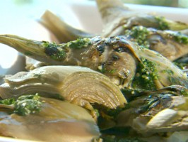 Grilled Artichokes with Parsley and Garlic