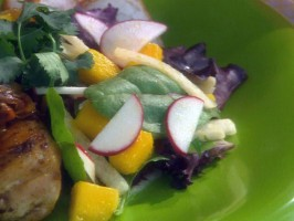 Mango, Jicama and Radish Salad with Peanut Dressing
