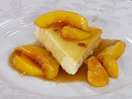 Holly's Peach Flambe Cheesecake
