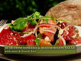 Heirloom Tomato and Watermelon Salad