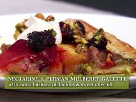 Nectarine-Pistachio Galette
