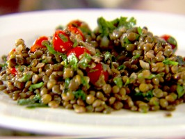 Herbed Lentils with Spinach and Tomatoes