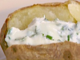 Baked Potatoes with Creamy Herb Topping