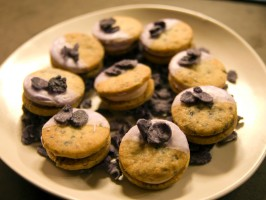 Candied Violet Cookie Sandwich