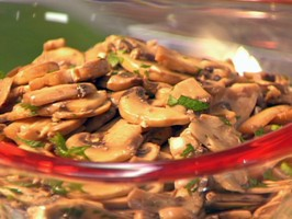 Mushroom Salad in Garlic and Parsley Vinaigrette